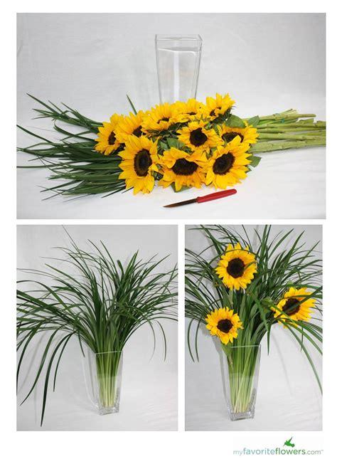 sunflower arrangement designs diy 3 easy steps to create sunflower arrangement flowers st george ut 171 my favorite flowers