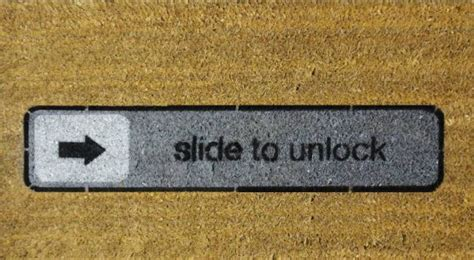 Slide To Unlock Doormat by Slide To Unlock Doormat Gadgets Matrix