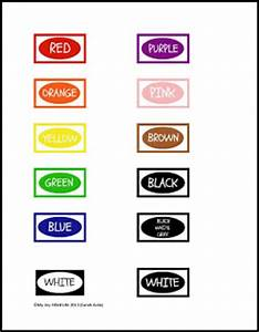 crayon organization color labels printable my joy With crayon labels template