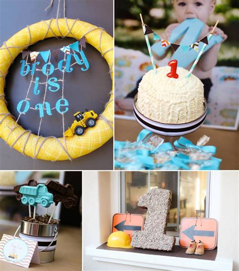 tag theme ideas for 1st birthday party for boy construction themed birthday cake kara 39 s party ideas