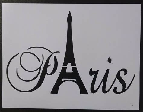 paris eiffel tower word    stencil fast