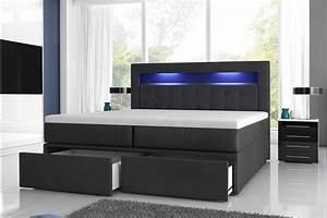 Boxspringbett Milano 2 mit Bettkästen und LED Möbel für Dich Online Shop