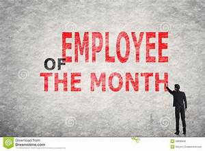 Template For Employee Write Up Employee Of The Month Stock Photo Image 48839942