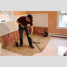 How To Remove A Tile Floor And Underlayment  A Concord