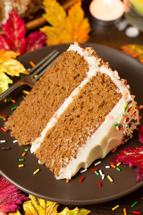 autumn spice cake  cream cheese frosting cooking classy