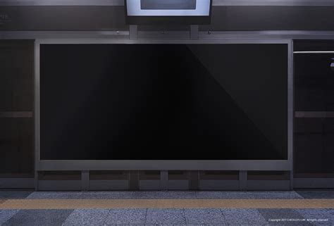 Subway Ad Mockup Free Subway Ad Board Mock Up 그래픽 디자인 브랜딩 편집