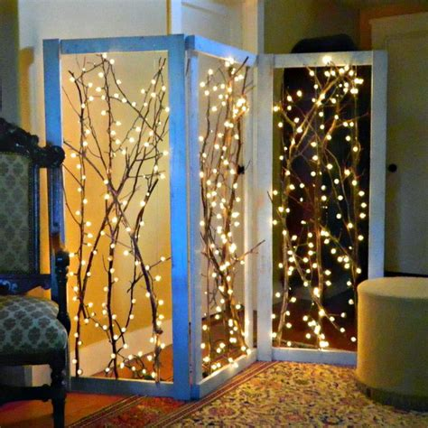 Twinkling Branches Room Divider Diy  Crafty Things