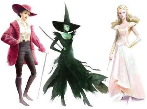oz costume powerful sketches wicked witch movie witches costumes disney three evanora designs movies glinda halloween sketch famous eonline concept