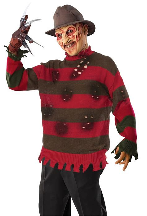 Freddy Krueger Deluxe Sweater Nightmare Elm Street Mens
