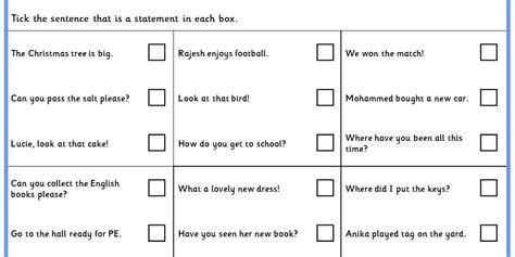 identifying statements ks spag test practice classroom