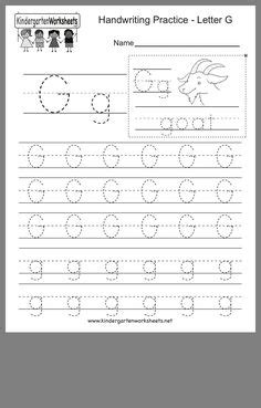 kindergarten letter  writing practice worksheet printable