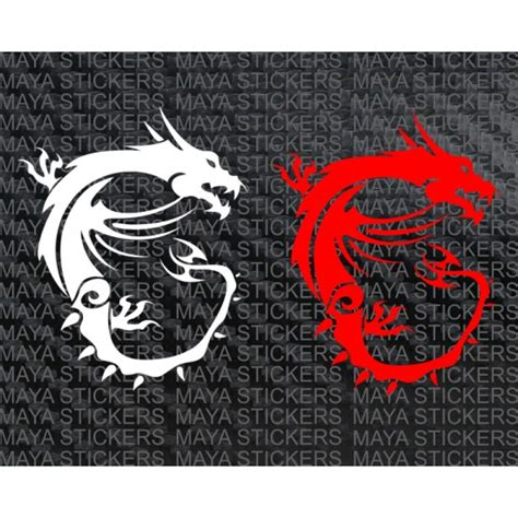 cheap wall decals msi logo stickers for laptops desktops and bikes
