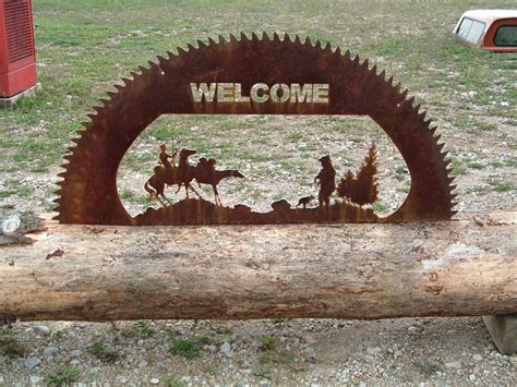 custom cut  sawmill blade  sign www