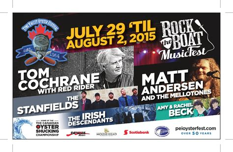 Rock The Boat Festival Pei by More Acts Added To Rock The Boat Festival Get Your