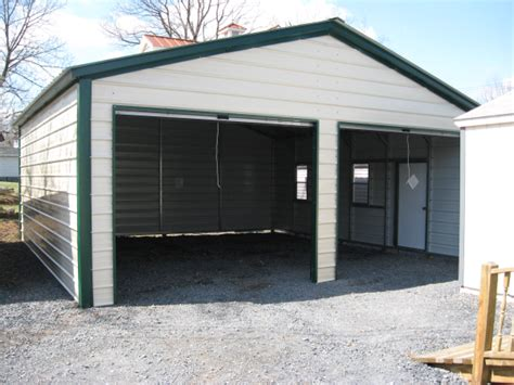 10x8 garage door 24x26 metal garage vertical roof virginia va