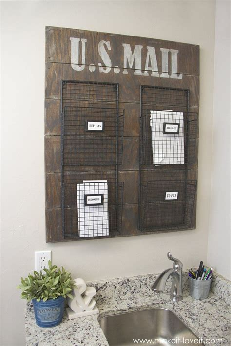 Wall Mounted Mail Organizerfrom Scrap Wood!  Via Make
