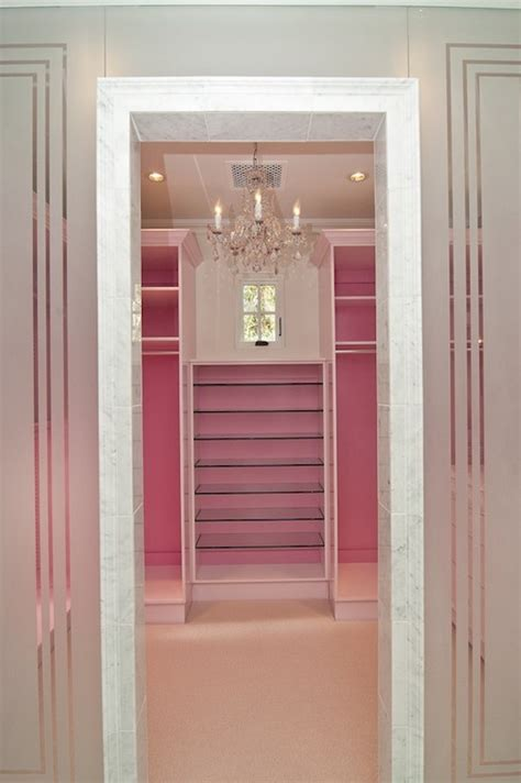 Pink And Blue Walk In Closet Design Ideas