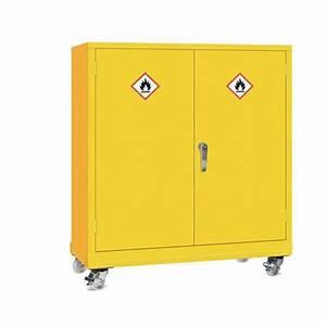 Mobile Dangerous Substance Cabinet  Double Door Unit With