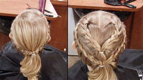 valentines day hair cute french braid heart hair