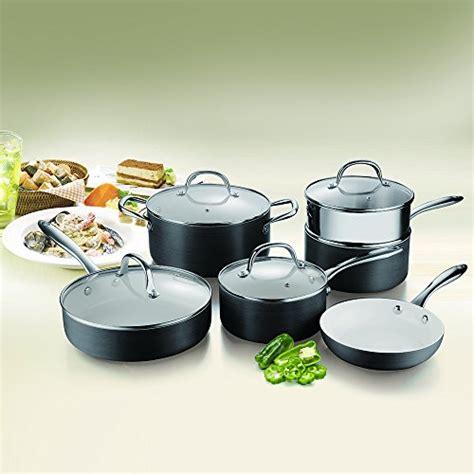 cooksmark ceramic nonstick pots  pans set scratch resistant hard anodized exterior cookware
