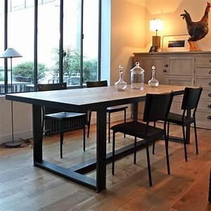 Table Industrielle Bois : table industrielle bois m tal les nouveaux brocanteurs ~ Teatrodelosmanantiales.com Idées de Décoration