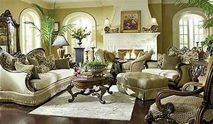 Usher in old world charm with traditional living room for Old world living room furniture