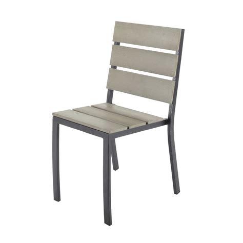 chaise de jardin en aluminium escale maisons du monde