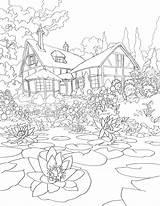 Pond sketch template