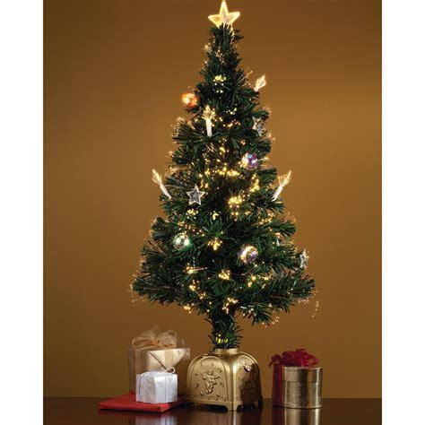 fiber optic spinning musical christmas tree miles kimball