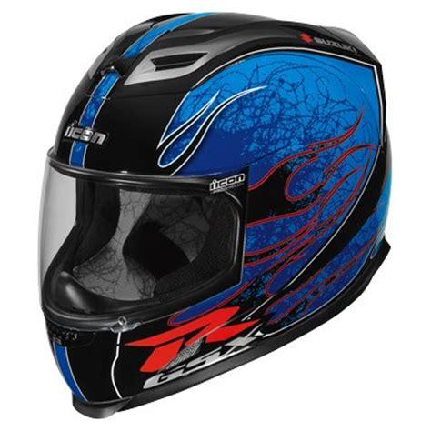 Suzuki Gsxr Helmet by Icon Airframe Claymore Suzuki Gsxr Helmet Blue