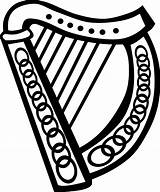Coloring Harp Celtic Getcolorings Pages sketch template