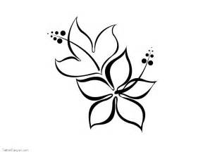 Simple Flower Drawing Tattoo Designs