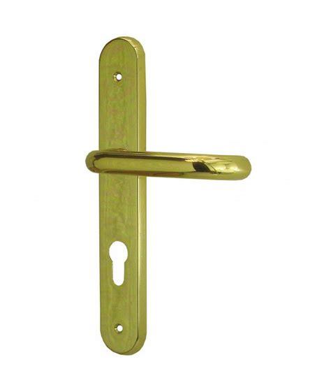poignee de porte en laiton ensemble de poign 233 es de porte d entr 233 e moderne trou cylindre en laiton massif poli verni