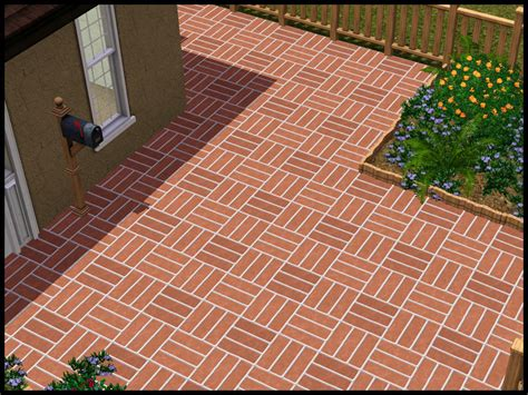 basket weave paving mod the sims basketweave stone paving pattern