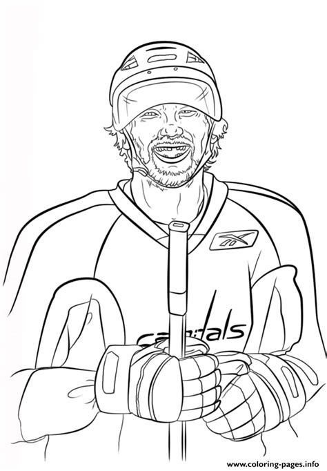 nhl coloring pages alex ovechkin nhl hockey sport coloring pages printable