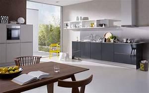 Hängeschrank Küche Grau : offene k che in grau und gelb ~ Markanthonyermac.com Haus und Dekorationen