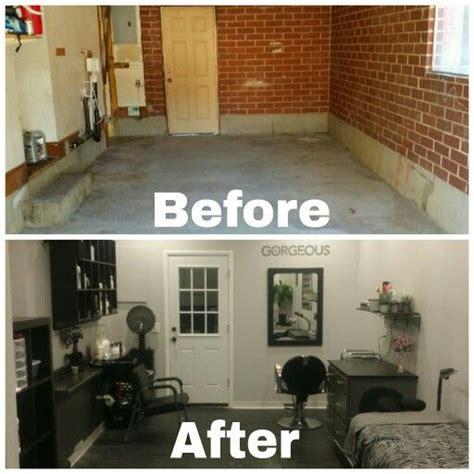 garage   salon conversion    basement salon    work