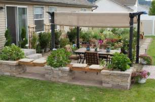 patio design neat knee wall yard design ideas pinterest