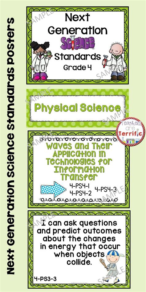 Next Generation Science Standards Posters For 4th Grade (ngss)  Science, Poster And The O'jays