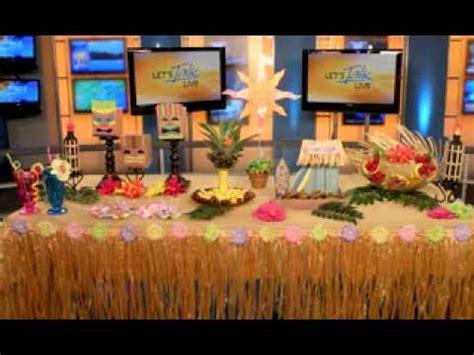 diy hawaiian luau party decorations youtube