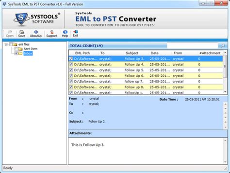 Eml Pst Tool For Converting Files Outlook