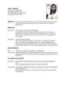 resume template for fresher teachers on call resume