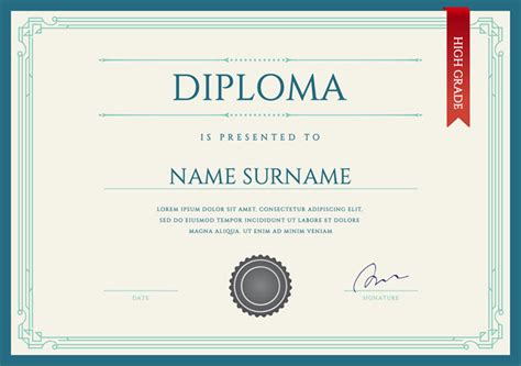 Diploma Template Printable Diploma Certificates Blank Certificates