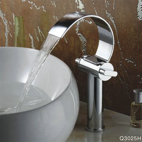 special design chrome finish waterfall high curve spout