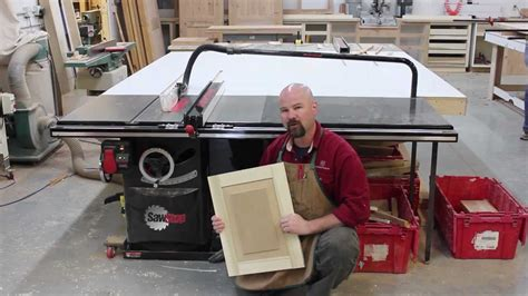 table saw stops dog a raised panel made solely on the sawstop table saw youtube