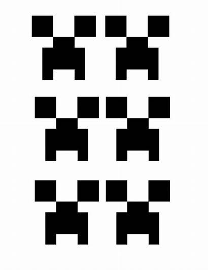Minecraft Party Creeper Printable Template Face Decorations