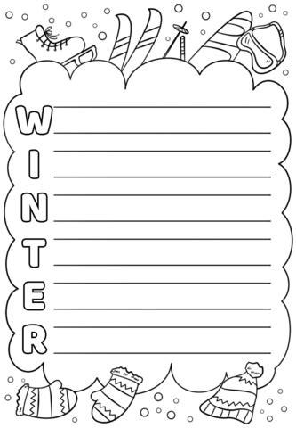 winter acrostic poem template  printable papercraft