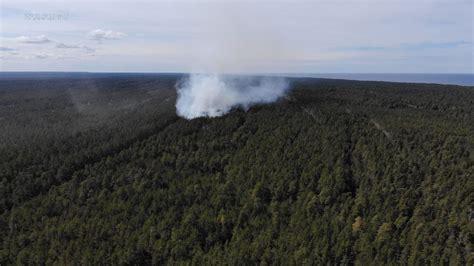 Slīteres Nacionālajā parkā izcēlies meža ugunsgrēks ...