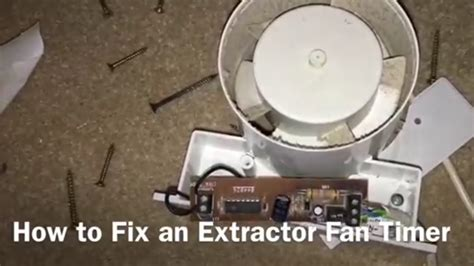 fix  extractor fan timer youtube
