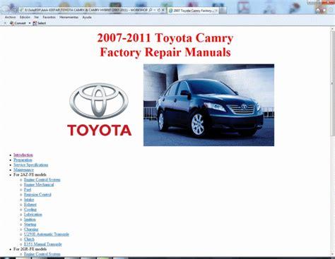 manual repair free 2007 toyota camry hybrid windshield wipe control toyota camry and camry hybrid 2007 2011 service manual